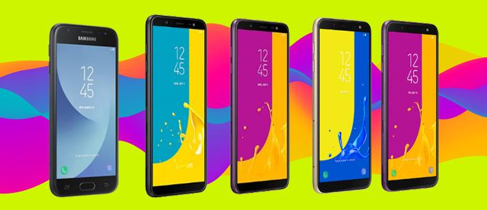 Samsung Galaxy J4, J6 e J8