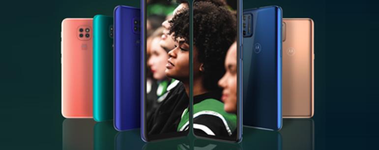 Família Moto G9: potência para tudo que importa.