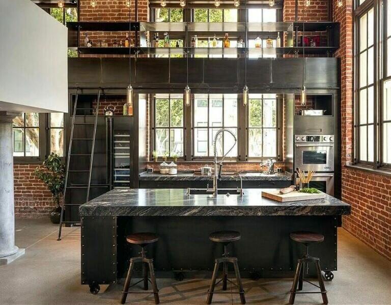 decoração-de-cozinha-planejada-estilo-industrial-com-ilha-Foto-Home-Design-Ideas-768x668
