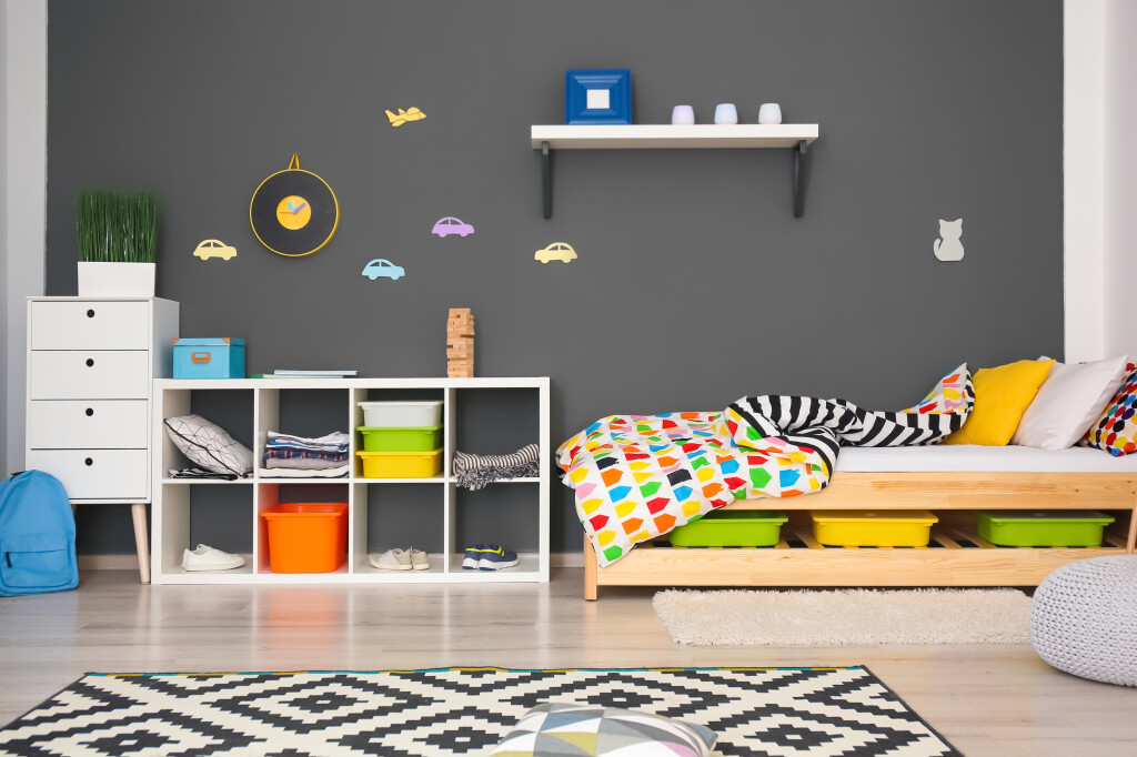 Modern,Room,Interior,With,Comfortable,Bed,For,Child