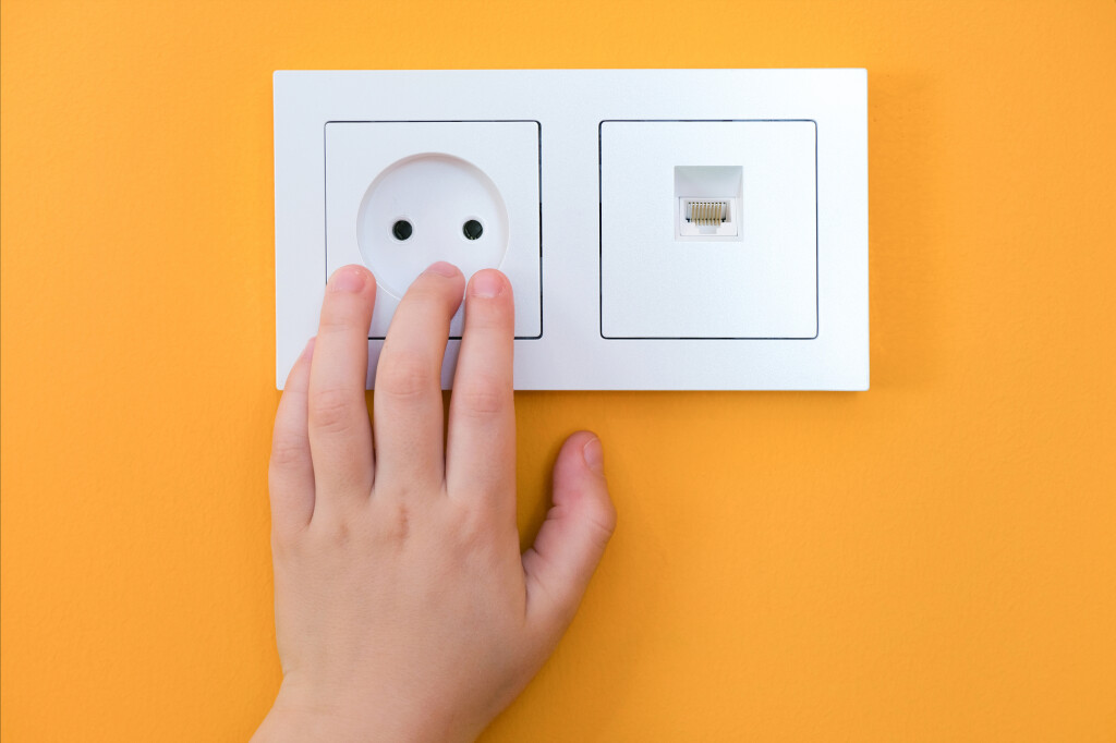 Dangerous,Situation,At,Home.,Child,Playing,With,Electrical,Socket.,Hands
